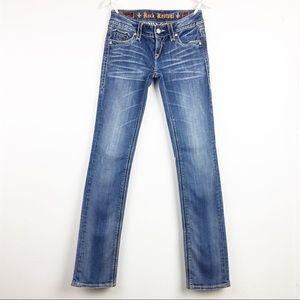 Rock Revival Womens Size 27 Debbie Straight Jeans